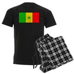 Senegal Blank Flag Men's Dark Pajamas