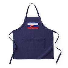 Slovakia Slovak Flag Apron (dark)