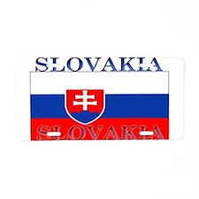 Slovakia Slovak Flag Aluminum License Plate