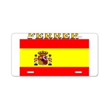Ferrer Spain Spanish Flag Aluminum License Plate