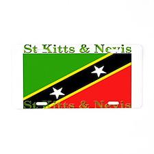 St Kitts & Nevis Aluminum License Plate