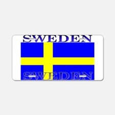 Sweden Swedish Flag Aluminum License Plate