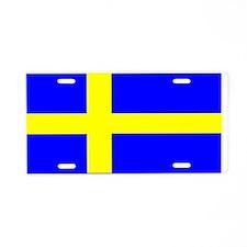 Sweden Blank Flag Aluminum License Plate