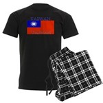 Taiwan Taiwanese Flag Men's Dark Pajamas
