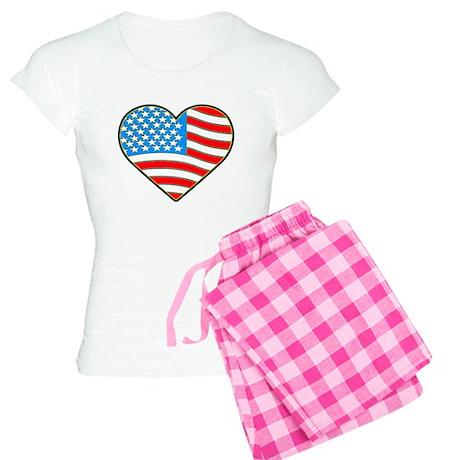 I Love America Flag Women's Light Pajamas
