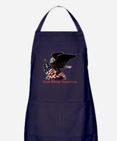 God Bless America Eagle Apron (dark)