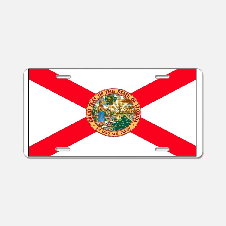 Florida Sunshine State Flag Aluminum License Plate