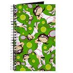 Cute Tennis Girl Patterned Journal