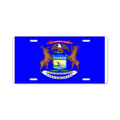 Michigan Blank Flag Aluminum License Plate