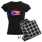 Ohio State Flag Women's Dark Pajamas