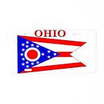 Ohio State Flag Aluminum License Plate