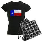 Texas Texan State Flag Women's Dark Pajamas