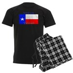 Texas Texan State Flag Men's Dark Pajamas