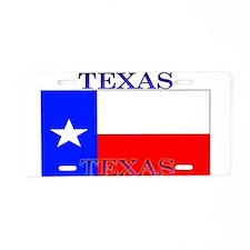 Texas Texan State Flag Aluminum License Plate