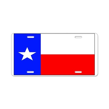 Texas Lone Star State Flag Aluminum License Plate