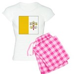 Vatican City Blank Flag Women's Light Pajamas