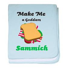 Goddam Sammich baby blanket
