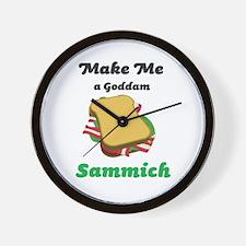 Goddam Sammich Wall Clock