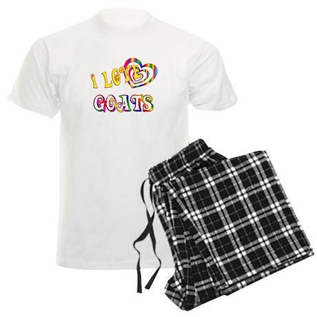 I Love Goats Men's Light Pajamas