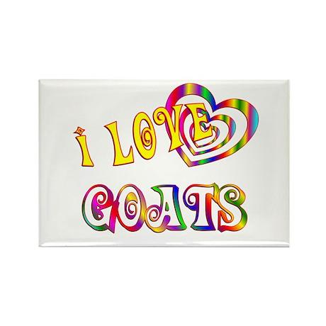 I Love Goats Rectangle Magnet (100 pack)
