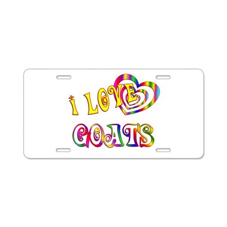 I Love Goats Aluminum License Plate