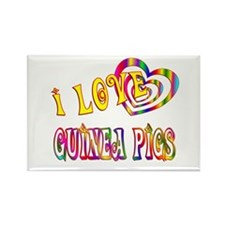I Love Guinea Pigs Rectangle Magnet