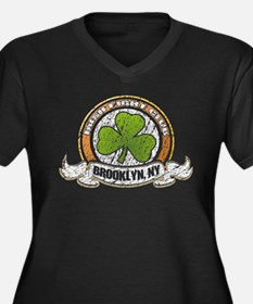 Irish Fight Club Brooklyn NY Women's Plus Size V-N