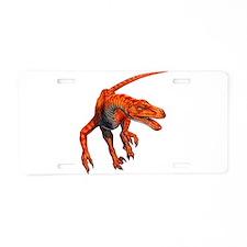 Velociraptor Raptor Dinosaur Aluminum License Plat
