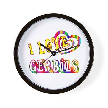 I Love Gerbils Wall Clock