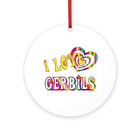 I Love Gerbils Ornament (Round)