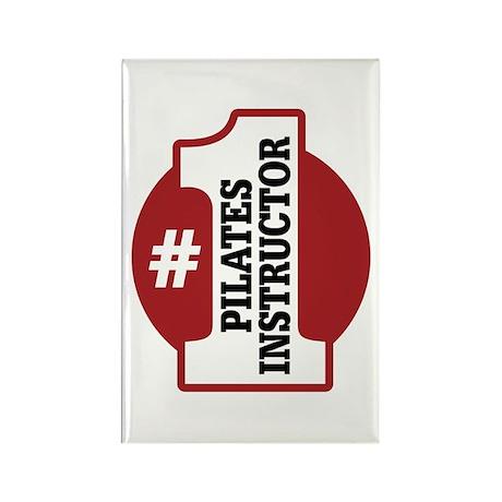 #1 Pilates Instructor Rectangle Magnet (100 pack)