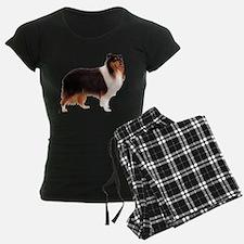 Black Rough Collie Pajamas