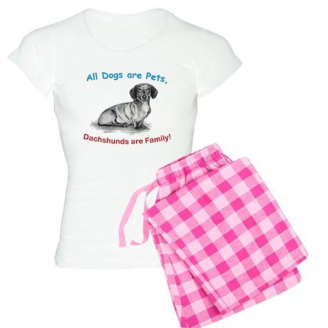 Dachshund Dachshunds Family Women's Light Pajamas
