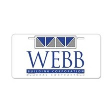 Webb Building Aluminum License Plate