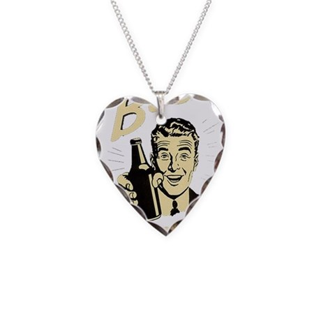 Beer It's Your Friend Necklace Heart Charm