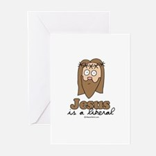 Jesus is a liberal - Greeting Cards (Pk of 10