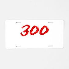 300 Spartans Sparta Aluminum License Plate