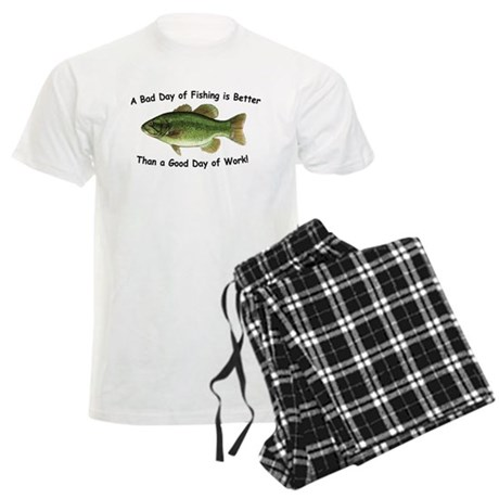 Bad Day Fishing Bass Men's Light Pajamas