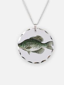 Black Crappie Fish Necklace