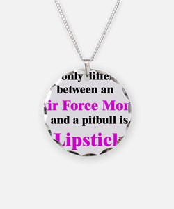 Air Force Mom Pitbull Lipstic Necklace