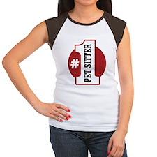 #1 Pet Sitter Women's Cap Sleeve T-Shirt