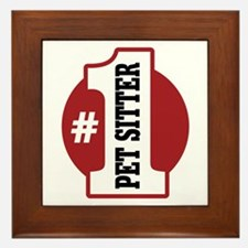 #1 Pet Sitter Framed Tile