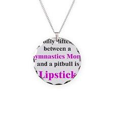 Gymnastics Mom Pitbull Lipsti Necklace