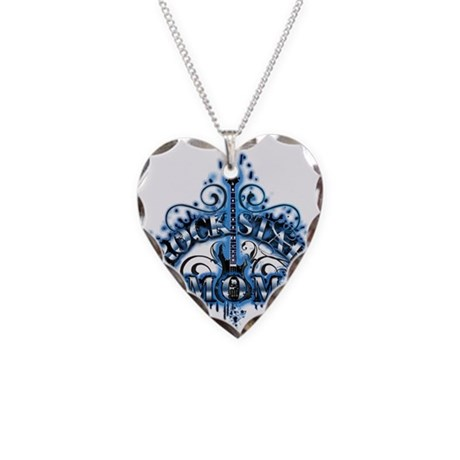 ROCK STAR MOM Necklace Heart Charm