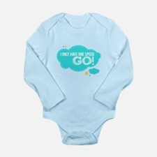 Cute Two and half men Long Sleeve Infant Bodysuit