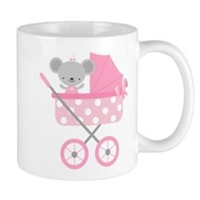 Pink Mouse Baby Announcement Mug