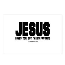 Jesus loves you, but I'm his favorite -  Postcards