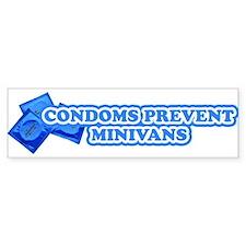 Condoms Prevent Minivans Bumper Sticker