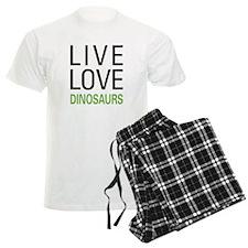 Live Love Dinosaurs Pajamas