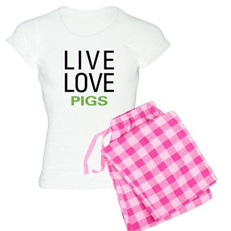 Live Love Pigs Women's Light Pajamas